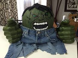 hulk pumpkin halloween contest superhero diy pumpkin no carve