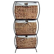 Cabinet Baskets Storage Pangaea Seagrass Basket Storage Pangaea Rattan 3 Drawer File