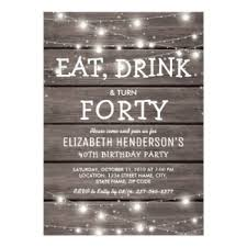 40th birthday party invitations u0026 announcements zazzle