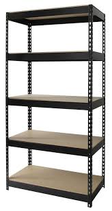 Metal And Wood Bookshelves by Amazon Com Iron Horse Rivet 5 Shelf Metal And Wood Shelving Unit