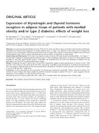 expression of thyrotropin and thyroid hormone receptors in adipose
