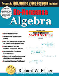 no nonsense algebra part of the mastering essential math skills