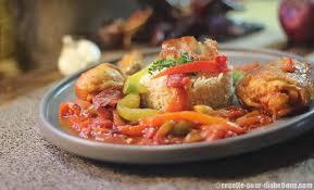 cuisine poulet basquaise poulet basquaise au riz complet