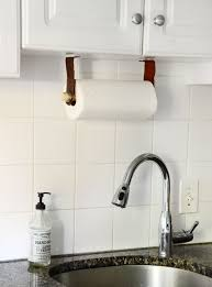 Kitchen Towel Bars Ideas Easy Diy Leather Paper Towel Holder