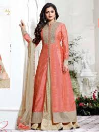 peach color peach color silk embroidery designer salwar kameez ma5145 878 mayloz