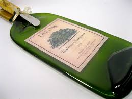 wine bottle platter omg this is so cool flattened wine bottle for wall hanging or a