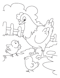 coloring page of a chicken unbelievable coloring page chicken t8ls com