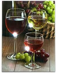 Wine Decor For Kitchen Amazon Com Kitchen Art Canvas Prints Grapes Wine Bottles Pictures