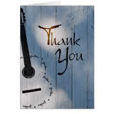 guitar thank you cards invitations zazzle au