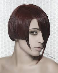 goth or punk haircut mix of lengths and pointed ends
