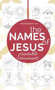 names of jesus christmas tree clipart clipground