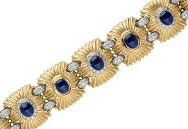 gold sapphire bracelet images Blue sapphire and diamond linked bracelet legacy hammerman png