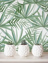 Home Wallpaper Decor Watercolor Palm Leaf Pattern Wallpaper Removable Wallpaper Self