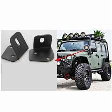 Jeep Wrangler Led Light Bar by 2x Black Steel A Pillar Mounting Brackets Led Light Bar Bumper