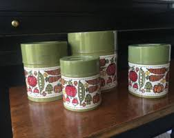 green canister sets kitchen tin canister set etsy
