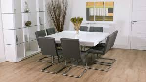 Designer Dining Room Tables Square Glass Dining Table Seats 8 Contemporary Square Dining Room