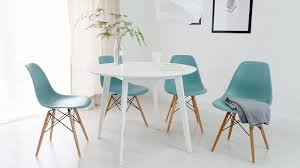 eames inspired dining table round white dining table and eames dining chair set uk