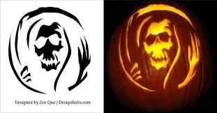 10 free halloween scary pumpkin carving patterns u0026 stencils