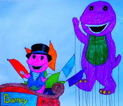 barney balloon at the parade by bestbarneyfan on deviantart