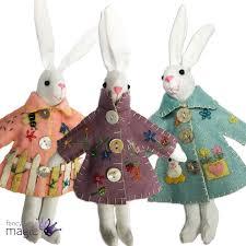 Gisela Graham Easter Decorations Uk by Gisela Graham Applique Easter Bunny Rabbit In Raincoat Hanging