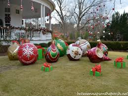large christmas diy outdoor christmas decorations big christmas ornaments