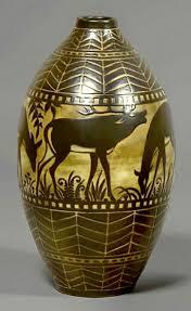African Vases Charles Catteau Art Deco Ceramics Master