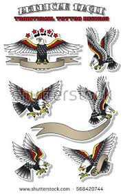 vector american eagle set vintage traditional stock vector
