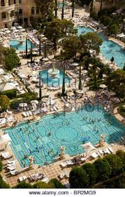 the swimming pools at the bellagio hotel las vegas usa stock