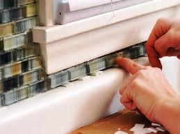 Kitchen Window Backsplash Kitchen Kitchen Update Add A Glass Tile Backsplash Hgtv How To