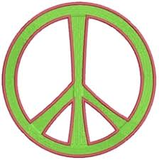 teeny peace sign machine embroidery designs