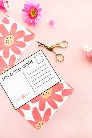 make your own save the date diy floral save the date postcards tutorials and floral