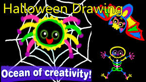 drawing for kids and toddlers u2013 learn to draw funny halloween