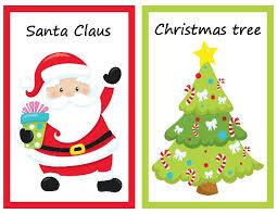 christmas medium flashcards set for pre k and kindergarten 8
