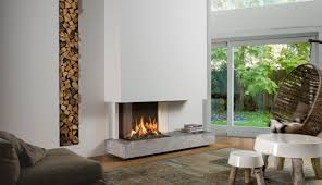 gas fireplace contemporary closed hearth 3 sided view bell