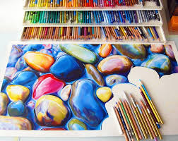 special pencils for drawing not your average drawing of a rock colorful riverbeds with