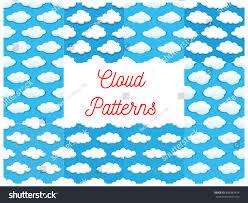 cartoon cumulus clouds sky seamless stock vector 486583474