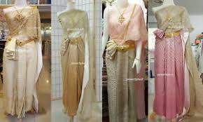 Thai Wedding Dress Thai Wedding Dress Asian Vintage Jeebnanang Skirt Sash Lace One