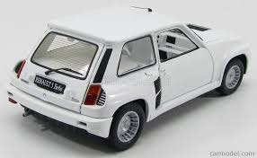 renault car 1980 universal hobbies uh4547 scale 1 18 renault 5 turbo all white