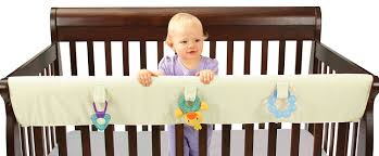 Bed Crib Attachment by Amazon Com Leachco Easy Teether Xl Convertible Crib Rail Cover
