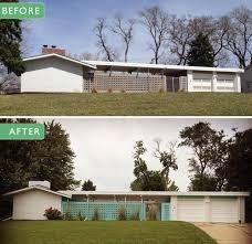exterior paint colors on her midcentury modern ranch house retro
