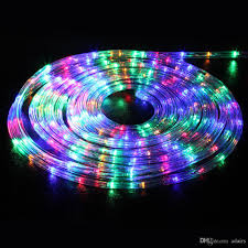 10 m led rainbow tube round wire desk lamp with colored neon tubes