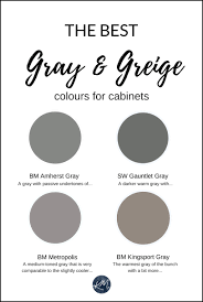 what color compliments gray cabinets the 4 best gray greige colours for cabinets vanities
