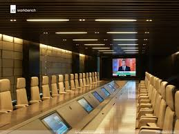 big and beautiful 14 meter boardroom table with full av