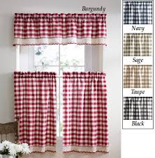 Red And White Curtains For Kitchen Kitchen Extraordinary Red And Black Kitchen Curtains Ideas With