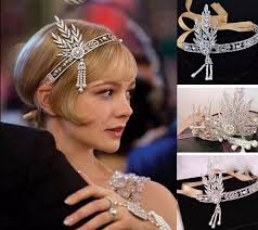 gatsby headband gold leaf jewelry 1920s headband great gatsby headpiece deco