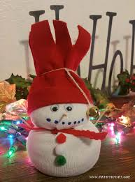 diy decorations sock snowman by day