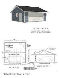 24 x 24 garage plans 2 car basic garage plan reverse gable 576 4 24 x 24 by behm