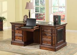 executive desk with file drawers parker house leonardo double pedestal executive desk with 2 file