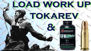 Reloading Data Spreadsheet Tokarev 7 62x25 Load Workup Using Cfe Pistol Powder And Hornady