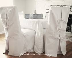 Dining Chairs Shabby Chic Custom Shabby Chic Parsons Dining Chair Covers In White Canvas Cotton